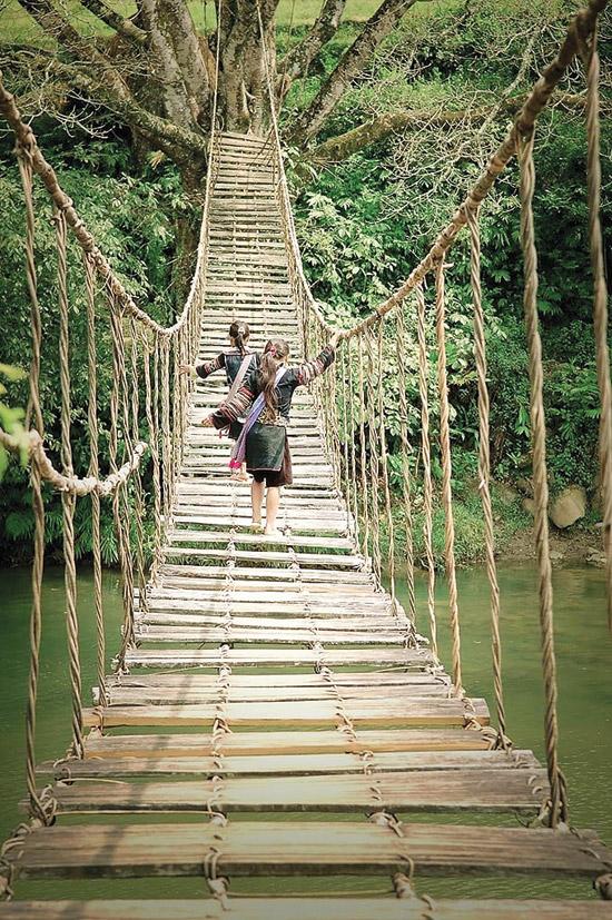 rattan bridge sapa (Cầu Mây)